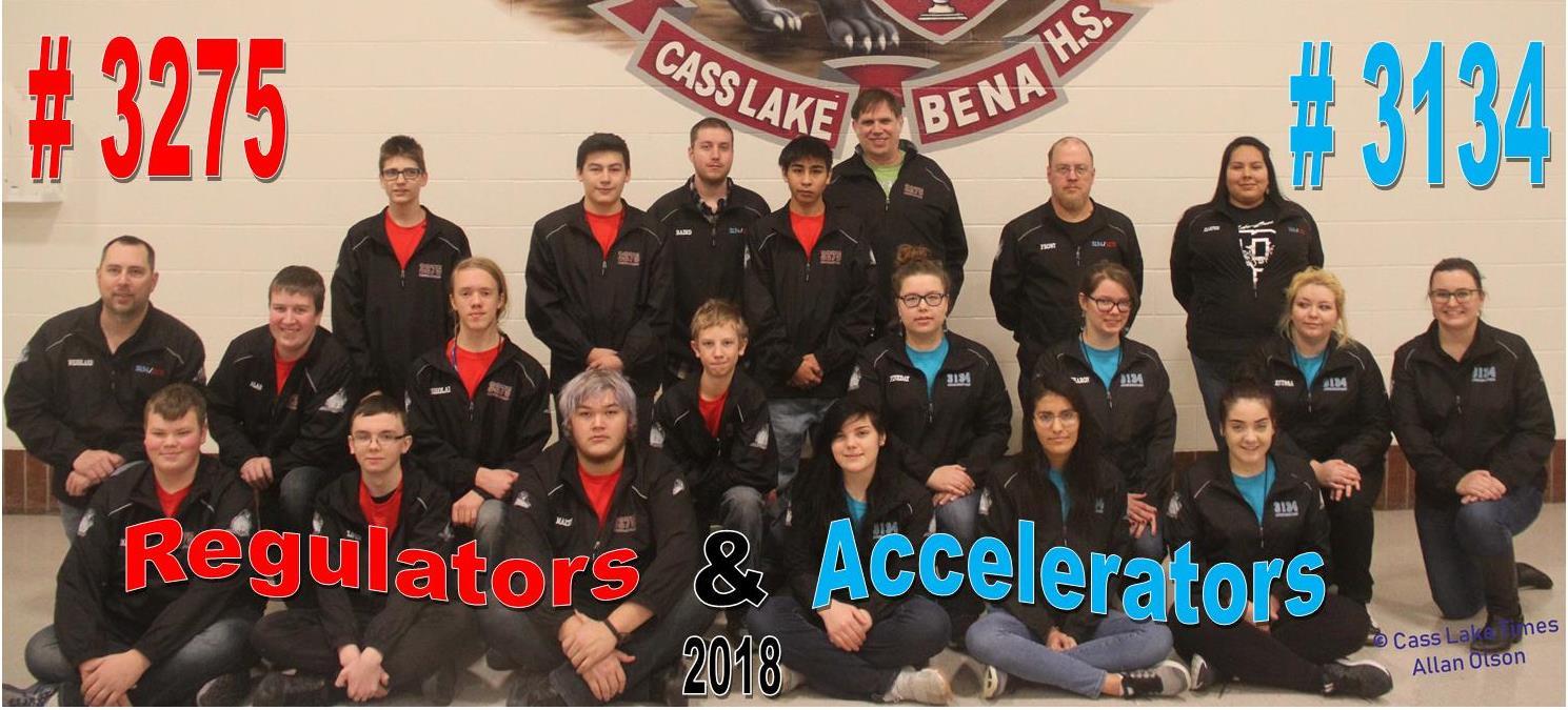 Cass Lake Robotics Team Picture 2018