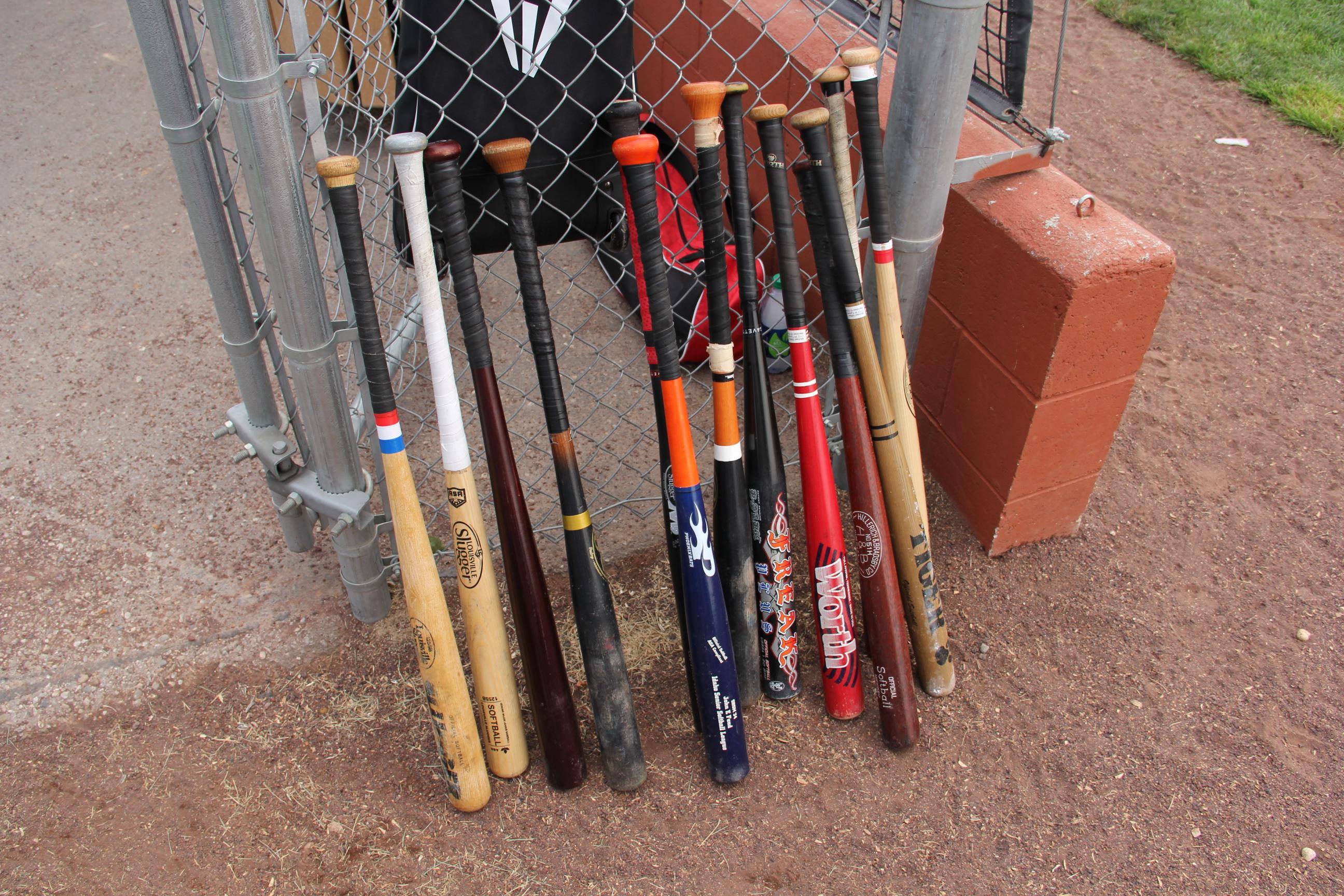 The wood bats