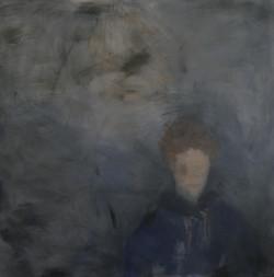 Portrait en bleu. Acrylique, 150x150cm