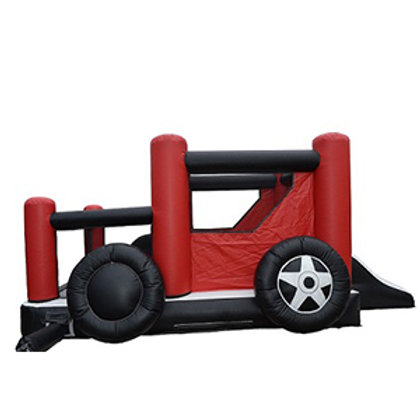 19' Hot Rod Inflatable Bouncy castle w/Ball Pitt and slide rental