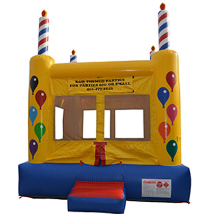 13' Birthday cake bounce castle rental