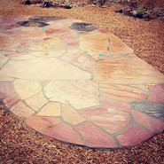 #flagstone and #woodchips look GREAT tog