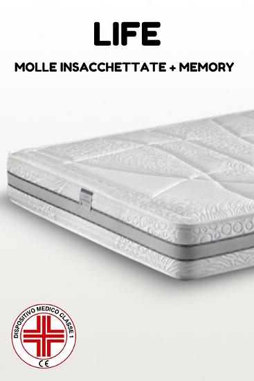 Life | Materasso a Molle Insacchettate + Memory Breeze