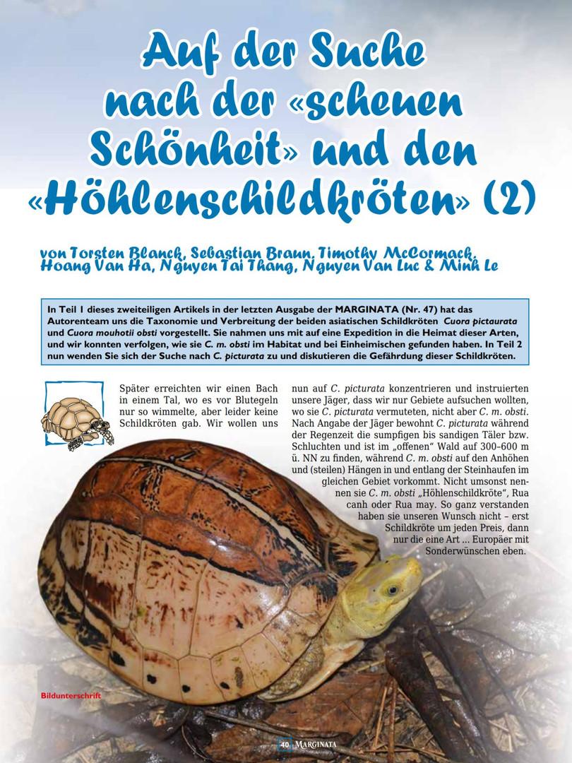 Auf der Suche nach der scheuen Schönheit und den Höhlenschildkröten Teil 2