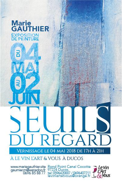 Vernissage le 4 Mai à partir de 17h à le Vin l'art et vous, à Ducos