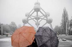 Atomium in the winter