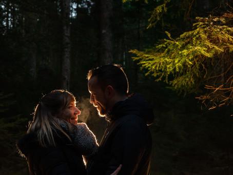 Une séance photo de couple dans les Vosges