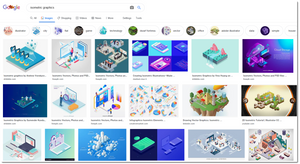 a gallery of images from google showing the three-dimensional effect of isometric graphics