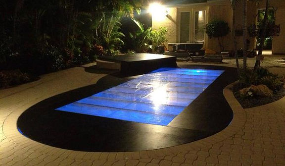 Clear Pool Cover