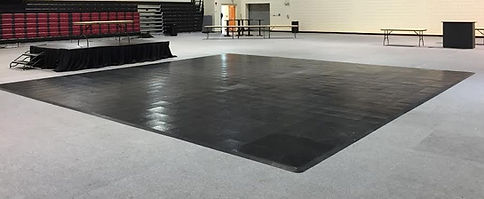 Black Vinyl Dance Floor
