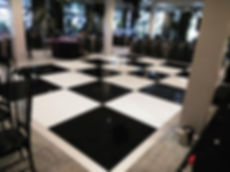 Black & White Acrylic Dance floor