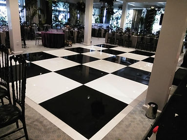 Black & White Acrylic Dance floor