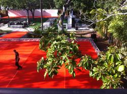 Orange Area Carpet