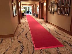 Red Carpet down hallway