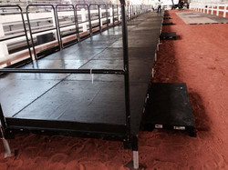 8 x 54 Stage with Rails