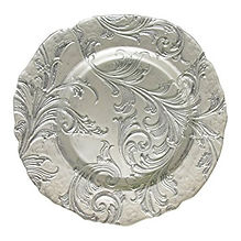 Silver Vintage Charger Plate
