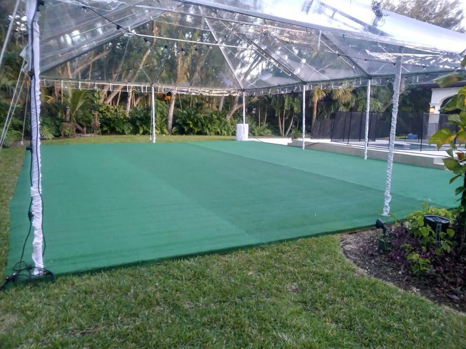 Green Astro Turf Sub Floor
