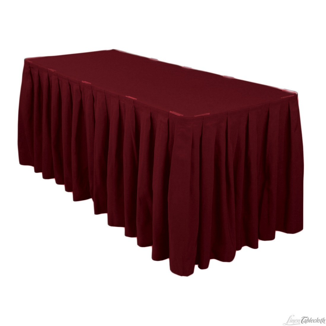 Burgundy 13 Ft Skirting