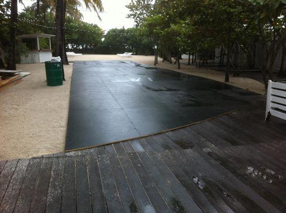 Custom Sub Floor Over the Sand