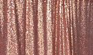 Rose Gold Sequin Drapes