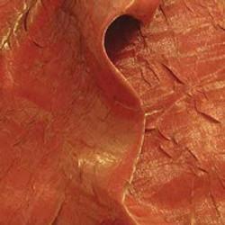 Fire Orange Crushed Satin