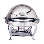 6 qt Round Roll Top Chafing Dish