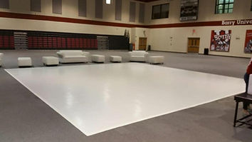 White Vinyl Dance Floor