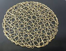 Gold Wire Placemat Charger