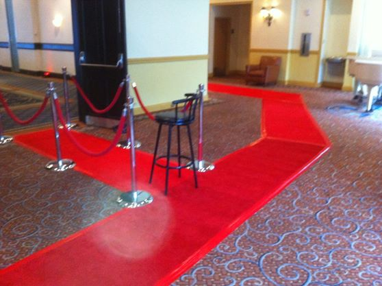 Custom Cut Red Capet Walk Way
