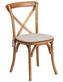 Oak wood Cross back Chair
