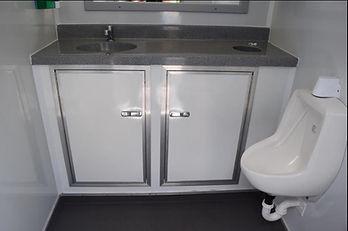 Inside Bathroom Trailer