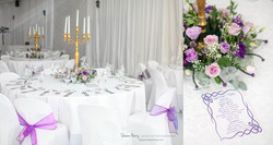 Purple, White & Gold Wedding