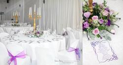 Elegant White, Purple & Gold