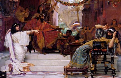 איור של אסתר מאשימה את המן
