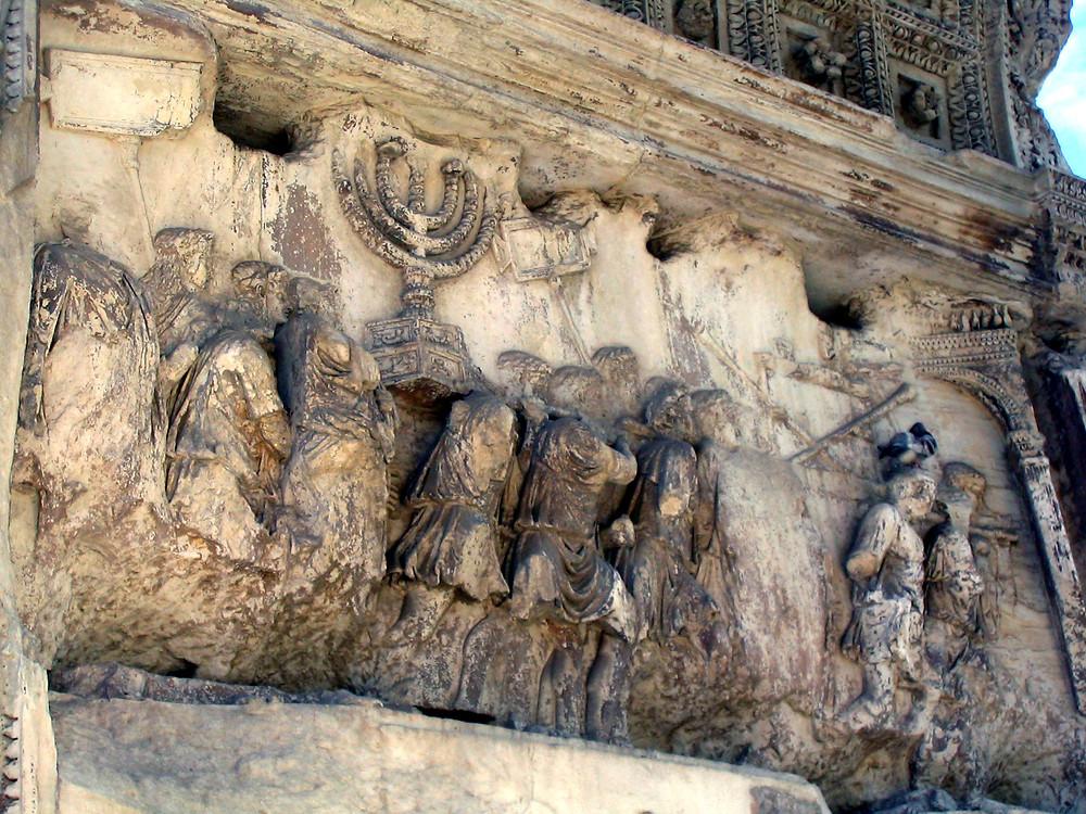 שער טיטוס - מנורה
