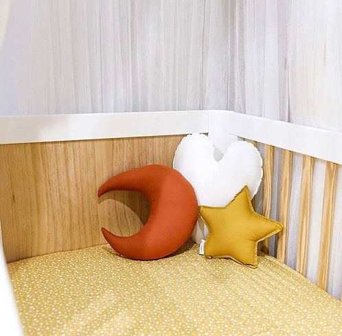 Polka Dot Nursery Linen - Mustard