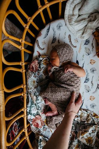 Feather Boho Nursery Linen
