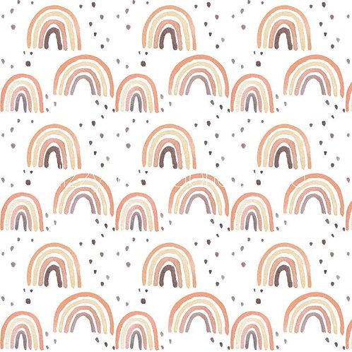 Rust Rainbow Large Bib