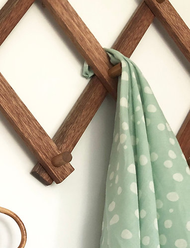 Mint spot Muslin Swaddle