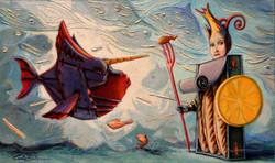 THE WARRIOR FISH - (framed) (2016)