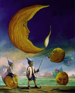 Gli assistenti della luna di cera  100x 80 cm - olio su tela.jpg