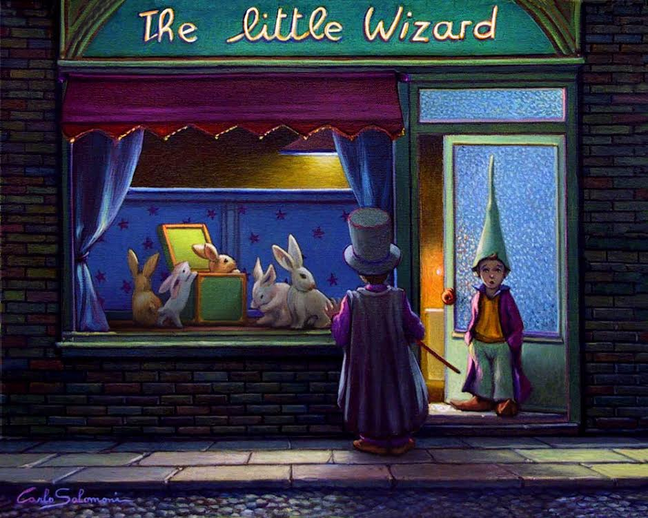 THE LITTLE WIZARD -41X51 cm