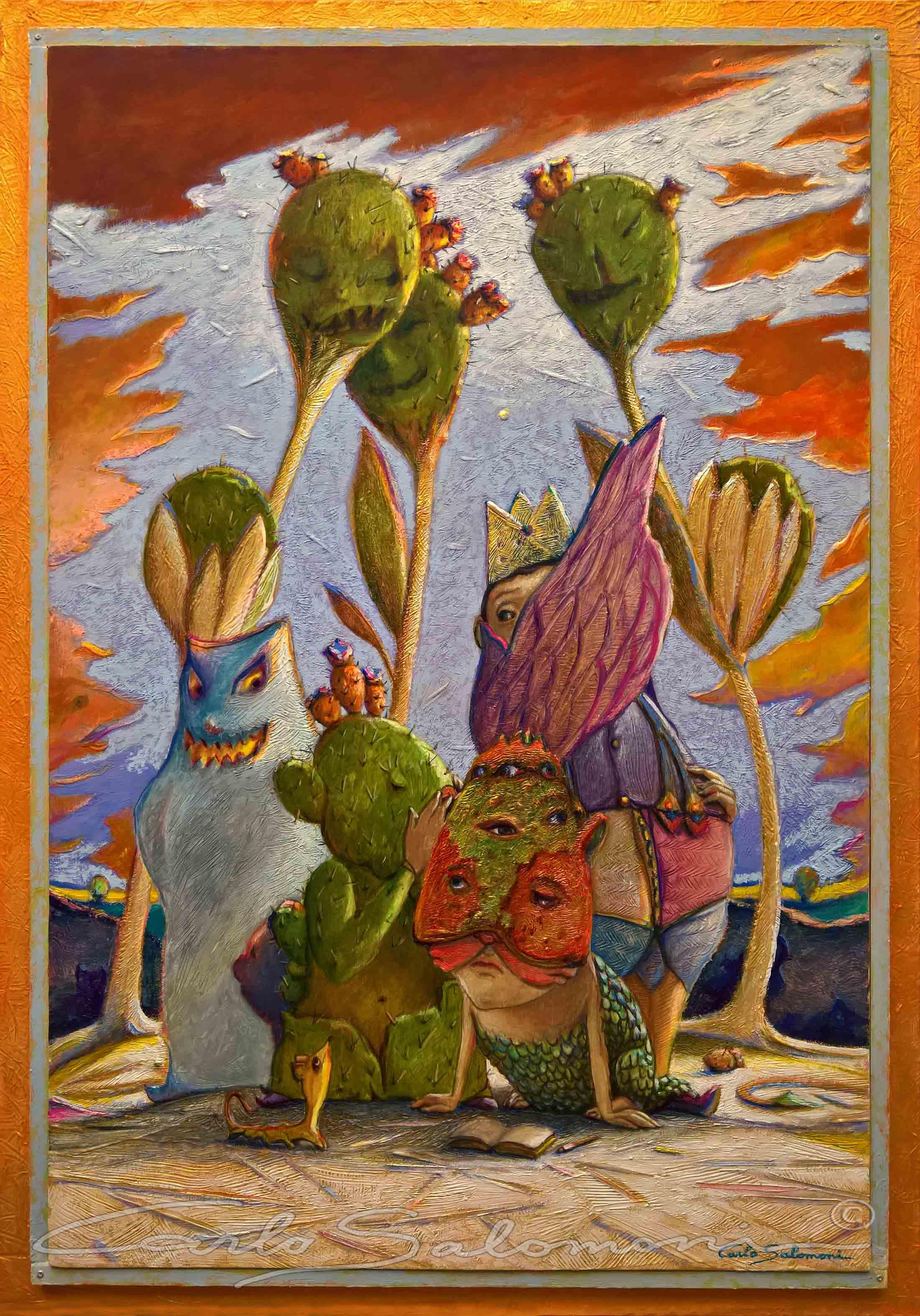 GOSSIP -( 66 x 46 cm )