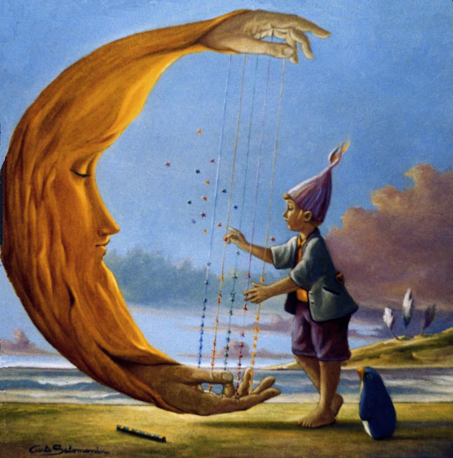 Musica della luna - 50 x 50 cm. - olio su tela.jpg