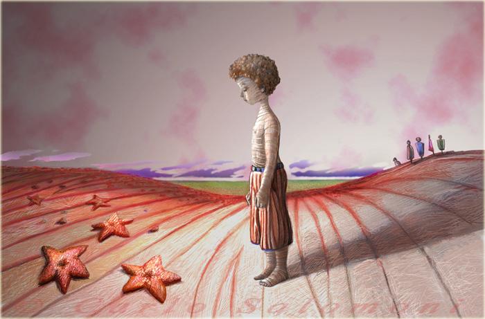 Risultati immagini per La bambina e le stelle marine