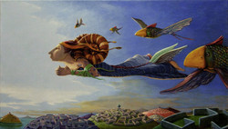 OLTRE I PENSIERI - 40 x 70 cm - Acrilici su tela