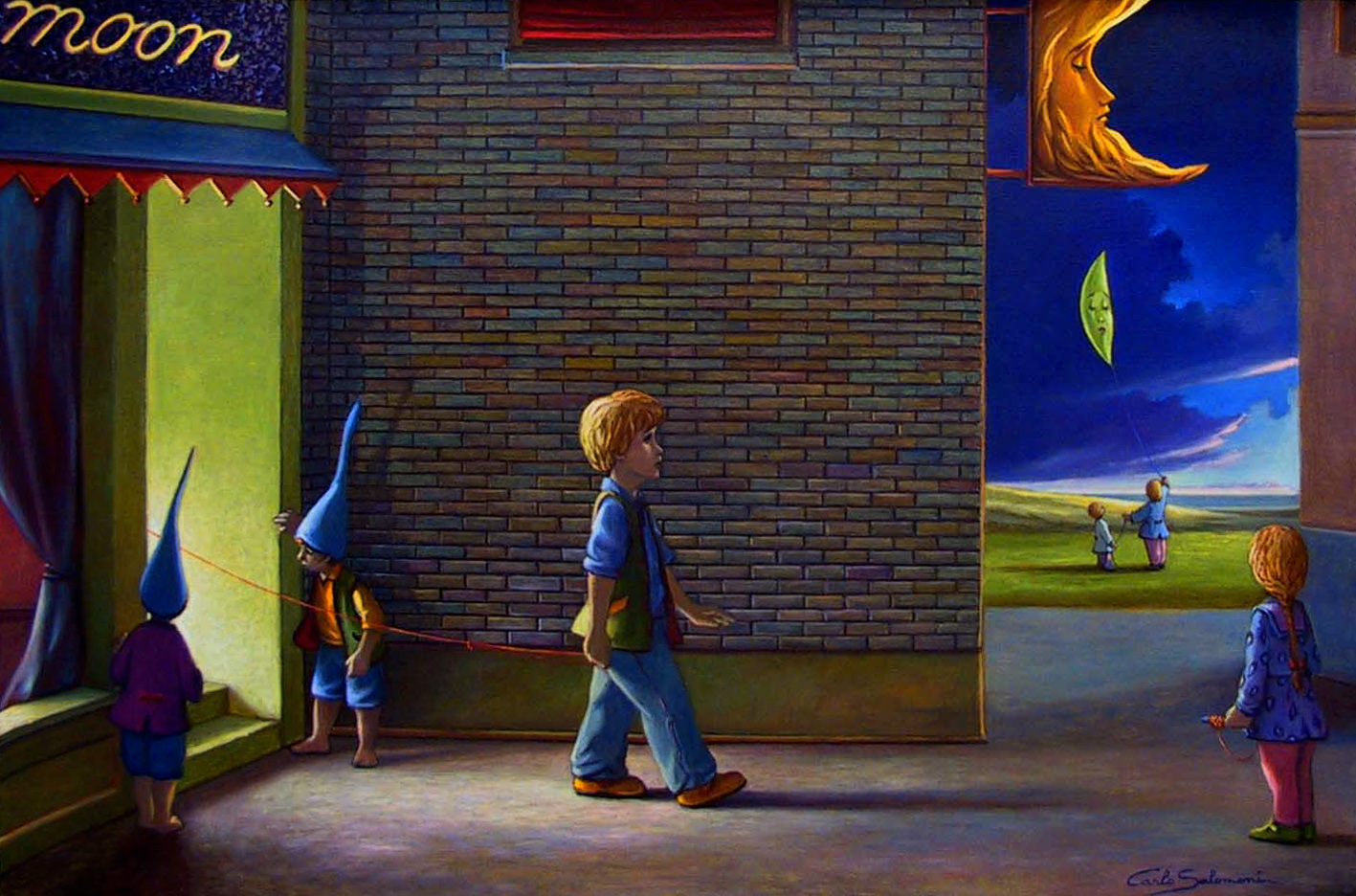 Store of the moon - 24x36 inches- olio su tela.