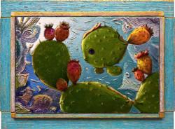 CACTUS FISH AQUARIUM-(painting )