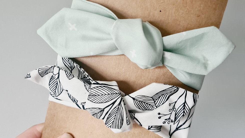 Mint + White Floral Neckties