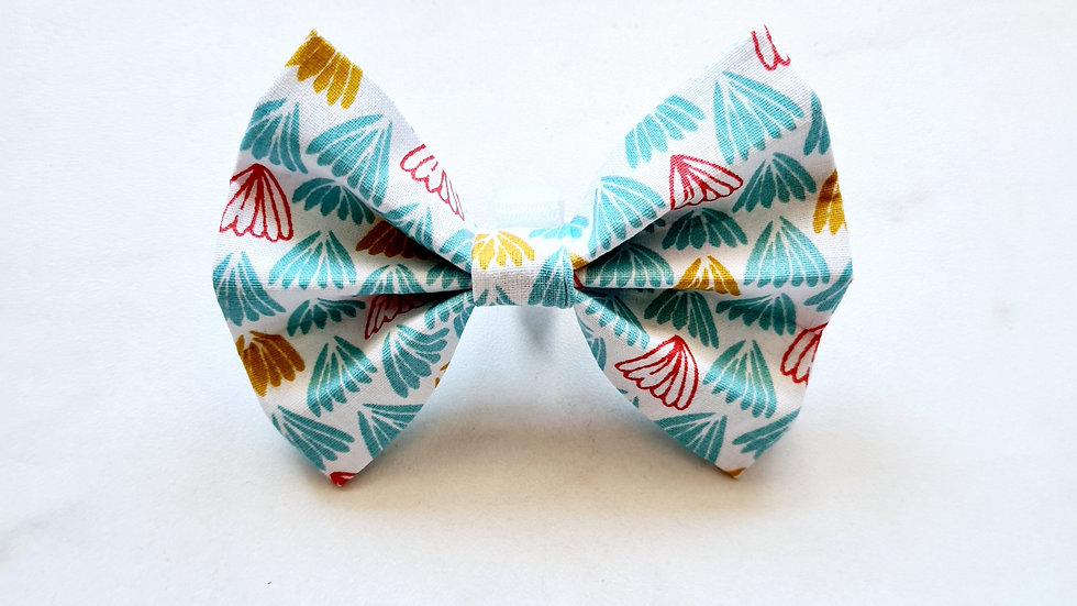 Teal Feathers Bow Tie